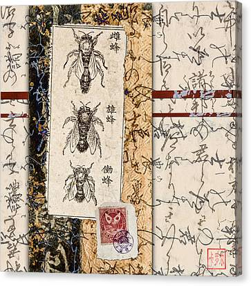 Japanese Bees Canvas Print by Carol Leigh