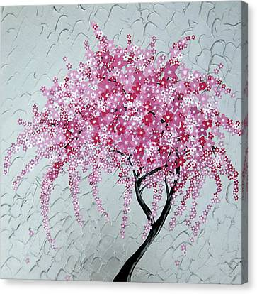 Japanese Cascade Canvas Print by Cathy Jacobs