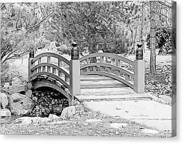 Canvas Print featuring the photograph Japanese Garden by Rodney Campbell