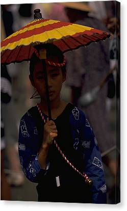 Canvas Print featuring the photograph Japanese Girl by Travel Pics