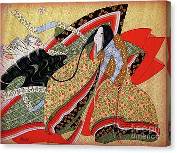 Japanese Textile Art Canvas Print by Eena Bo