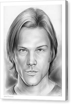 Jared Padalecki Canvas Print by Greg Joens
