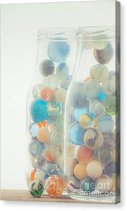 Jars Full Of Marbles Canvas Print by Edward Fielding