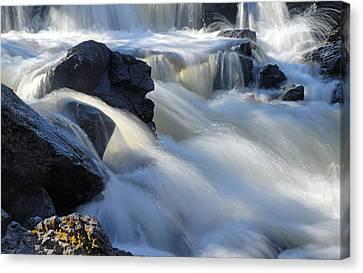 Jasper Falls Closeup Canvas Print by Larry Ricker