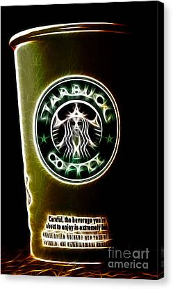 Java Jolt . The Beverage You Are About To Enjoy Is Extremely Hot Canvas Print by Wingsdomain Art and Photography