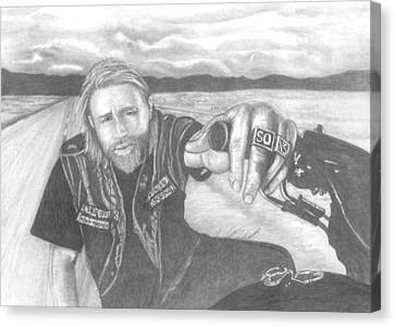 Jax Teller Canvas Print by Jennifer Campbell Brewer