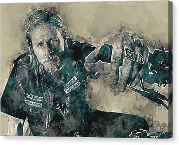 Jax Teller, Sons Of Anarchy Canvas Print by Dante Blacksmith