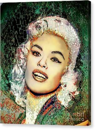 Jayne Mansfield - Pop Art Canvas Print by Ian Gledhill