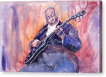 Jazz B.b. King 03 Canvas Print by Yuriy  Shevchuk