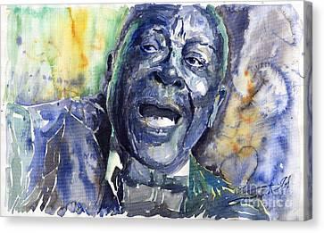 Jazz B.b.king 04 Blue Canvas Print by Yuriy  Shevchuk