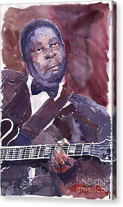 Jazz B B King Canvas Print by Yuriy  Shevchuk