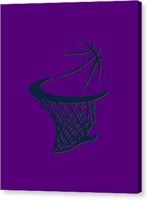 Jazz Basketball Hoop Canvas Print by Joe Hamilton