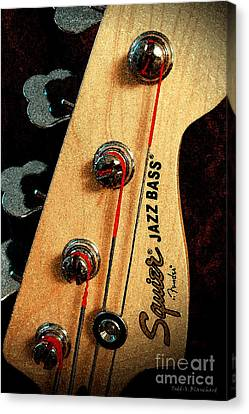 Jazz Bass Headstock Canvas Print by Todd A Blanchard