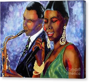 Jazz Duet Canvas Print by Linda Marcille