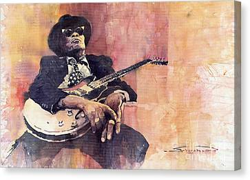 Jazz John Lee Hooker Canvas Print by Yuriy  Shevchuk