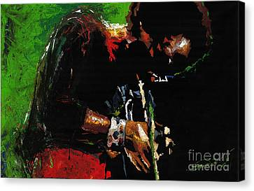 Jazz Miles Davis 1 Canvas Print by Yuriy  Shevchuk