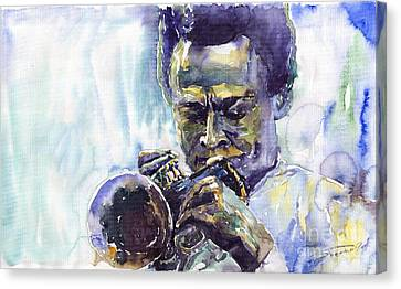 Jazz Miles Davis 10 Canvas Print by Yuriy  Shevchuk