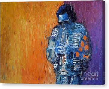 Jazz Miles Davis 2 Canvas Print by Yuriy  Shevchuk