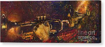 Jazz Miles Davis  Canvas Print by Yuriy  Shevchuk