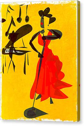 Jazz Review Canvas Print by Betsey Walker Culliton