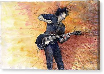 Jazz Rock Guitarist Stone Temple Pilots Canvas Print by Yuriy  Shevchuk
