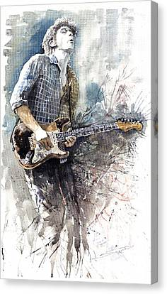 Jazz Rock John Mayer 05  Canvas Print by Yuriy  Shevchuk