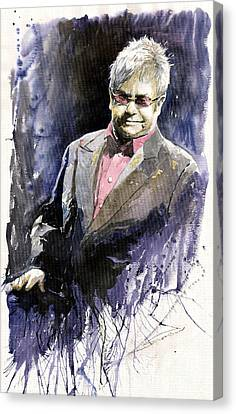 Jazz Sir Elton John Canvas Print by Yuriy  Shevchuk