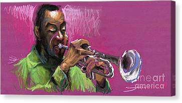 Jazz Trumpeter Canvas Print by Yuriy  Shevchuk