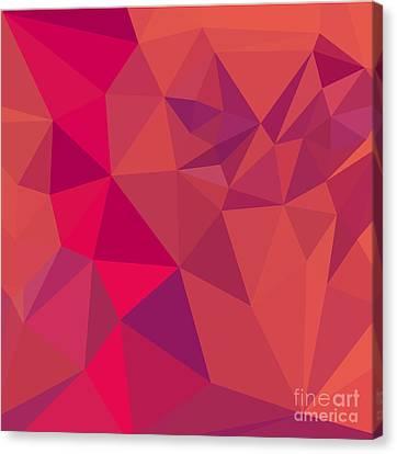 Jazzberry Jam Red Abstract Low Polygon Background Canvas Print by Aloysius Patrimonio