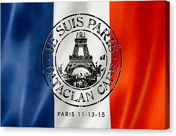 Je Suis Paris Canvas Print by Gary Grayson