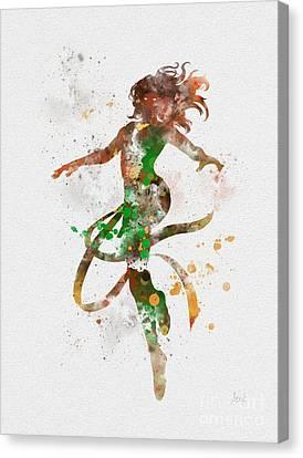 Jean Grey Canvas Print by Rebecca Jenkins
