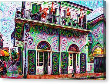 Jean Lafittes Old Absinthe House 1807 - New Orleans Canvas Print by Bill Cannon