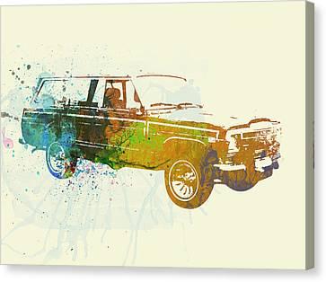 Jeep Wagoneer Canvas Print by Naxart Studio