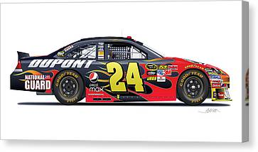 Jeff Gordon Nascar Image Canvas Print by Alain Jamar