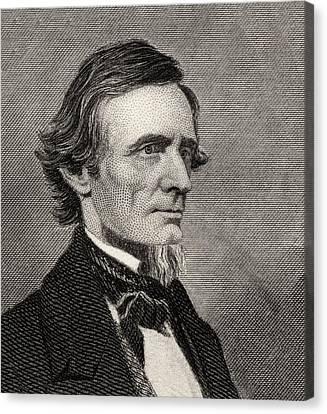 Jefferson Davis,1808-1889. First And Canvas Print by Vintage Design Pics