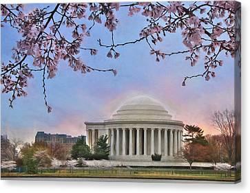 Jefferson Memorial Canvas Print by Lori Deiter