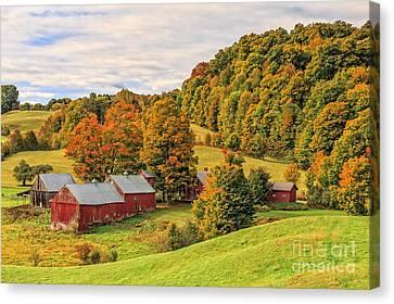 Jenne Farm Vermont Landscape Autumn Canvas Print by Edward Fielding