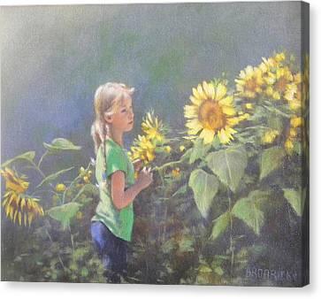 Jenny Canvas Print by J M Brodrick
