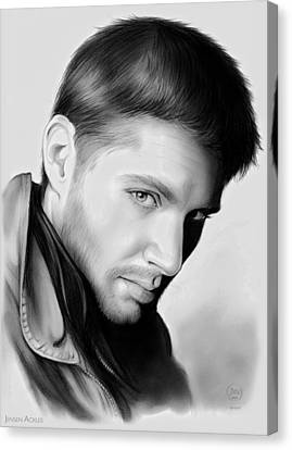 Jensen Ackles Canvas Print by Greg Joens