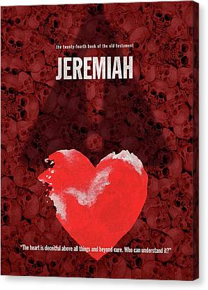 Jeremiah Books Of The Bible Series Old Testament Minimal Poster Art Number 24 Canvas Print by Design Turnpike