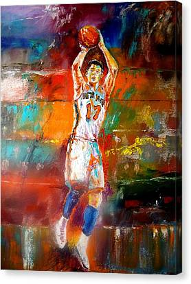 Jeremy Lin New York Knicks Canvas Print by Leland Castro