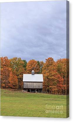 Jericho Hill Vermont Barn Canvas Print by Edward Fielding