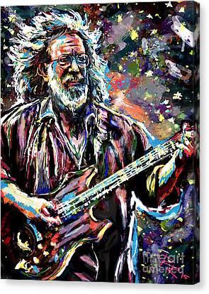 Jerry Garcia Art Grateful Dead Canvas Print by Ryan Rock Artist