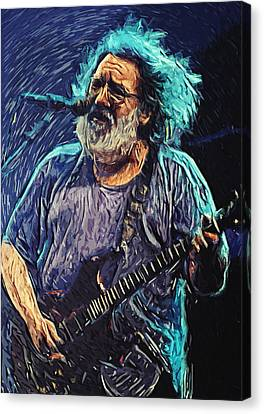 Jerry Garcia Canvas Print by Taylan Soyturk