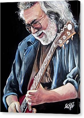 Jerry Garcia - The Grateful Dead Canvas Print by Tom Carlton