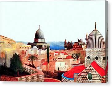 Jerusalem In 1905  Canvas Print by Munir Alawi