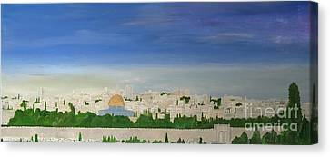 Jerusalem Skyline Canvas Print by Karen Jane Jones