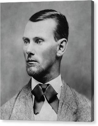 Jesse James -- American Outlaw Canvas Print by Daniel Hagerman