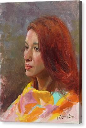 Jessica Portrait Demo Canvas Print by Anna Rose Bain