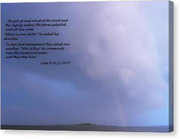 Jesus Calms The Storm Canvas Print by Sheri McLeroy